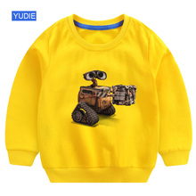 kids sweatshirts cool boys hoodie wall e  2019 autumn funny children cute fall clothes for girls cotton baby top newborn infants