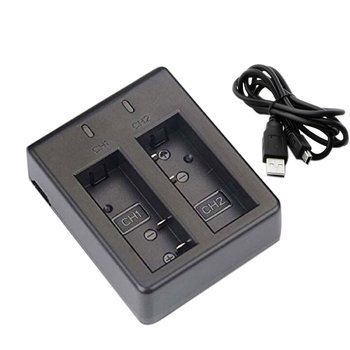 USB двойное зарядное устройство + 2 шт 1050mAh аккумуляторная литий-ионная батарея для камеры EKEN H9 H9R H3 H3R H8PRO H8R H8 pro спортивная Экшн-камера