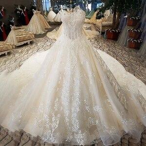 Image 3 - LS74521 vestidos de boda de lujo, sin tirantes, con encaje, sin mangas, espalda, con cuentas, fotos reales, 2020
