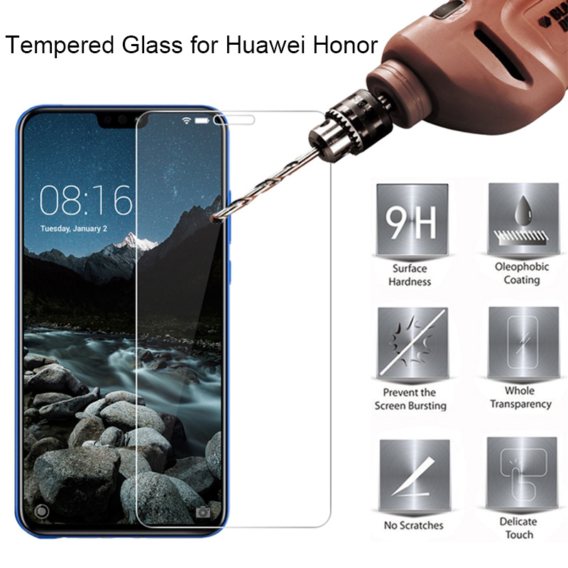 9H Tempered Glass For Huawei Honor 7X 6X 5X Protective Glass For Honor 8X 8X Max 8 X Screen Protector On Honor 7S 7 Lite 6 3X 4X