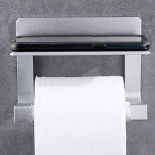 Держатель для туалетной бумаги с полкой держатель салфеток туалетный