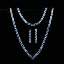 Sky Blue Zirconia Zilver 925 Sieraden Sets Voor Vrouwen Bruiloft Armband Hanger Oorbellen Ketting Bruids Sieraden Sets