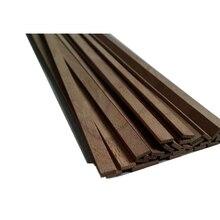 Custom Natural Genuine American Black Walnut Wood Bar DIY Material 50cm 0.6-15mm Thick