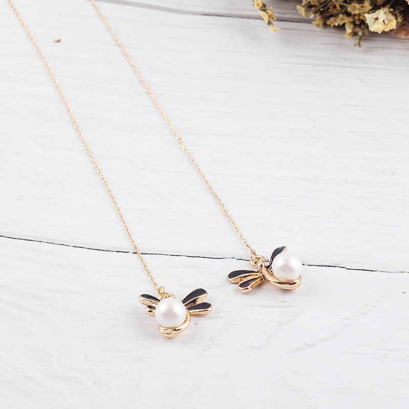 Fashion Handmade Gold Color Long Bee Drop Earring For Women Wholesale Jewerly Accessory Date Gift