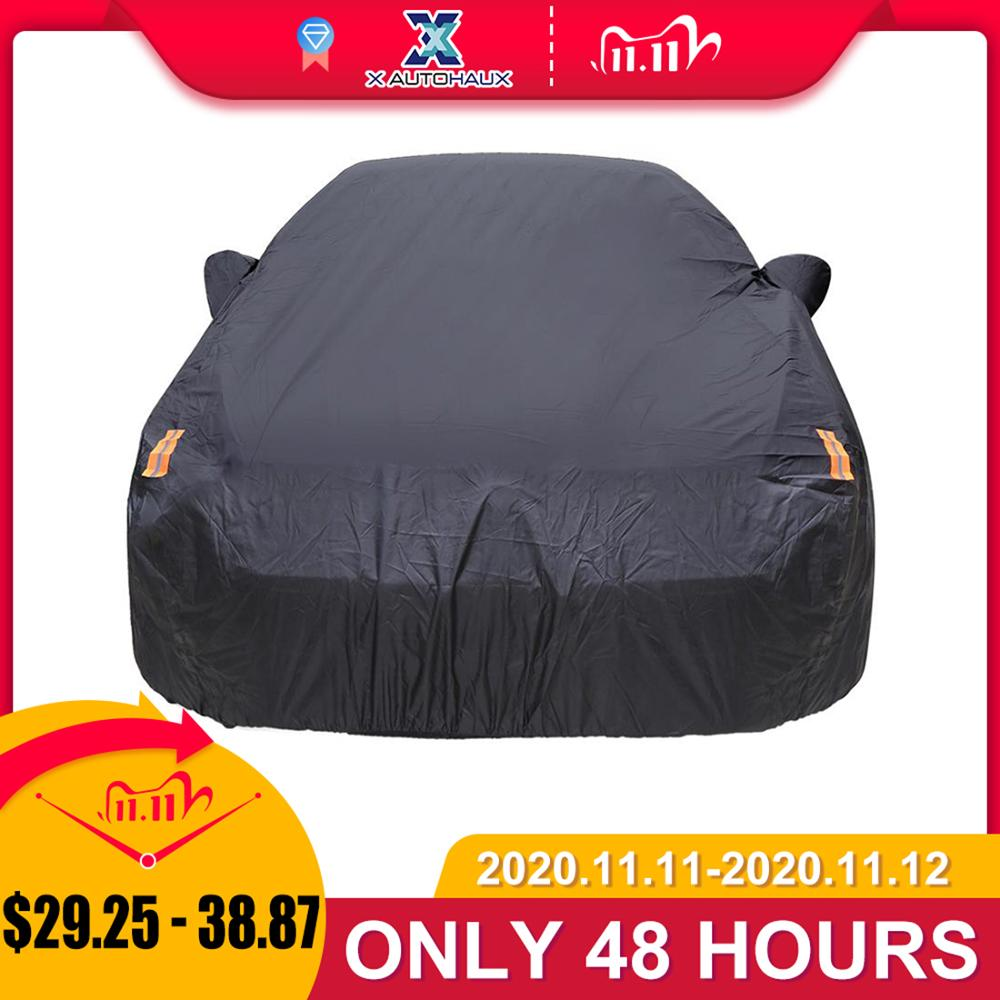 X Autohaux Universal Full Car Cover Indoor Outdoor Auto Car Covers Snow Ice Waterproof Dust Sun UV Shade Cover car reflector