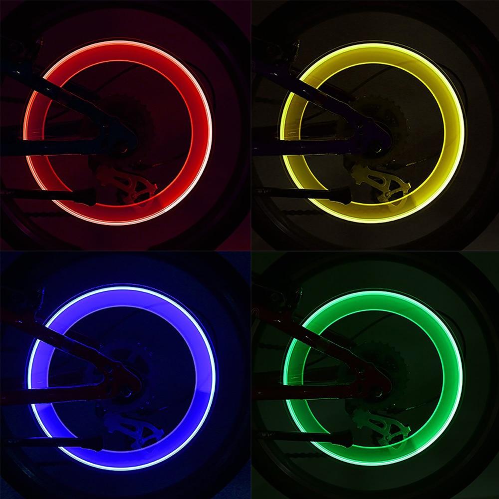 2PCS LED Valve Lamp Bike Wheel Tire Spoke Neon Light MTB Flash Letter Bicycle US