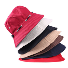 Summer Foldable Bucket Hat Women Sun Hats Panama Large Brim Beach Ladies Hoilday Cap Visors For Men