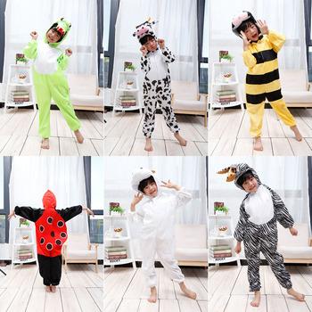 Kostium na Halloween dla dzieci Onesies dla dorosłych dziewczyny piękny krowa koza Zebra kombinezon kobiety zimowe piżamy dzieci Anime Cosplay tanie i dobre opinie Kombinezony i pajacyki GAME Unisex Zestawy Other COTTON Crocodile Cow Bee Ladybug Goat Zebra XXS S L XL XXL 3XL 4XL 5XL 6XL