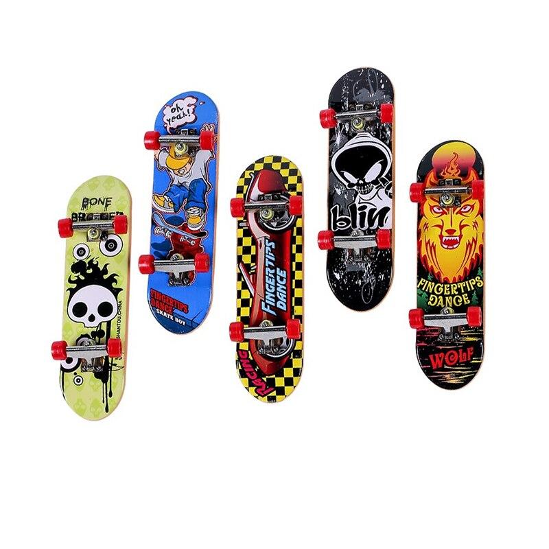 Alloy Stand Plastic Mini Finger Boards Mini Skate Finger Skateboard Kids Toys
