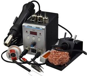 Image 5 - 新しいeruntop 8586デジタルディスプレイ電気はんだこて + diy熱風銃より良いsmdリワークステーション