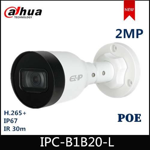 Dahua EZ IP Camera IPC-B1B20-L 2MP 2.8mm 3.6mm Fixed Lens IR Mini-Bullet Network Camera With POE Security Camera