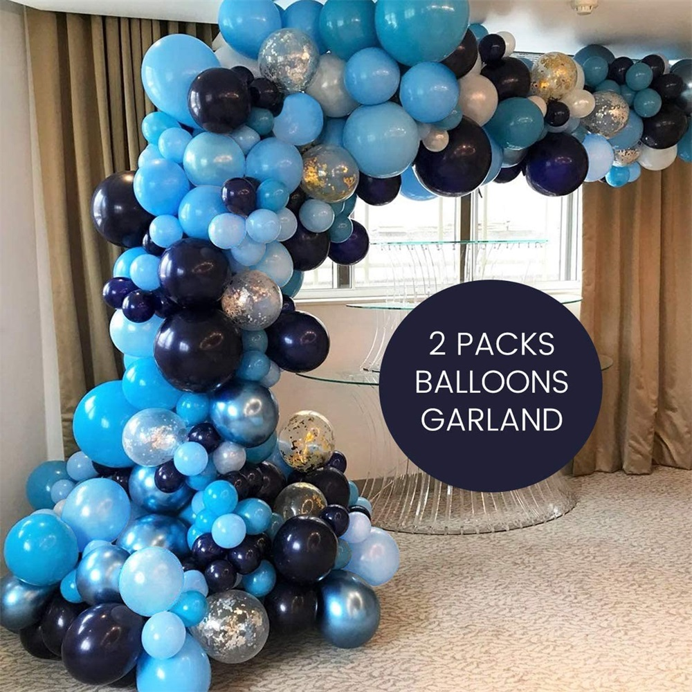 Blue Balloons Arch Garland Kit 106pcs Royal Blue Latex Balloon Pack for Elephant Boy Baby Shower Birthday Wedding Blue Graduation Party Decorations