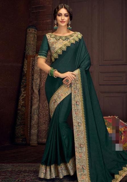 17 ألوان رائع الهندي الساري الهندي للمرأة الجميلة التطريز ساري العرقية النسيج 2