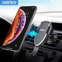 Chargeur Drahtlose auto Schnelle Last Qi Schnelle Drahtlose Auto Ladegerät 10W für chargeur Samsung S10 S9 7,5 W für iPhone XS X 8