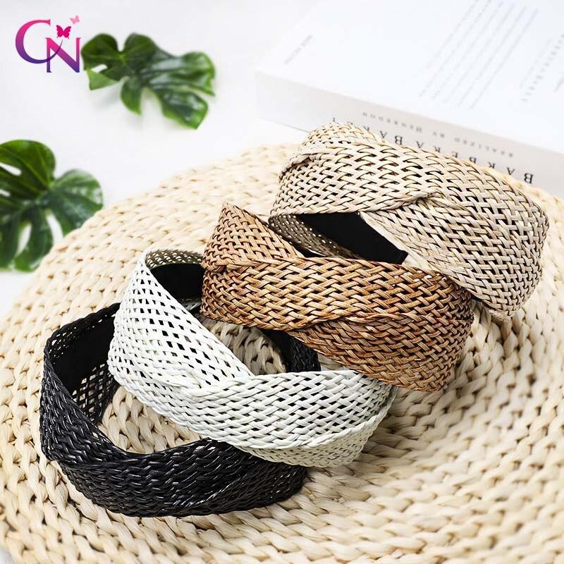 Купить повязка для волос ручной работы cn с соломенным переплетением