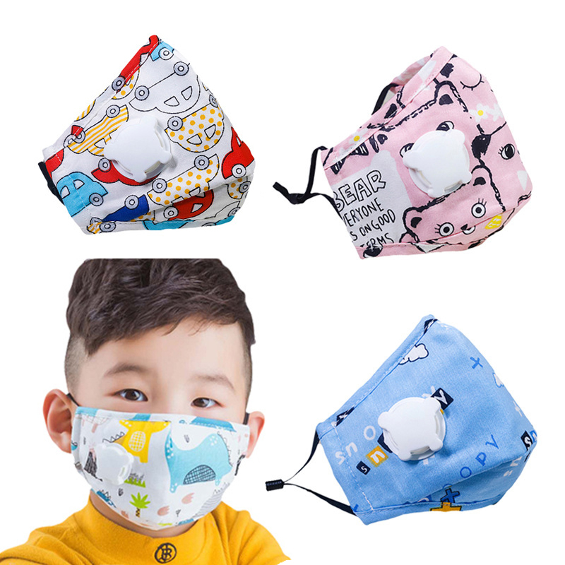 PM2.5 Mouth Mask For Kids Cute Cartoon Cotton Mask Pollution Anti-Dust Children Washable Face Masks