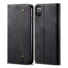 Retro Flip Case For Samsung Galaxy A51 Case Denim Fabirc Stand Wallet Back Cover For Samsung A51 Card Slot Coque mooncase slim leather side flip wallet card slot pouch with kickstand shell back чехол для samsung galaxy a3 blue