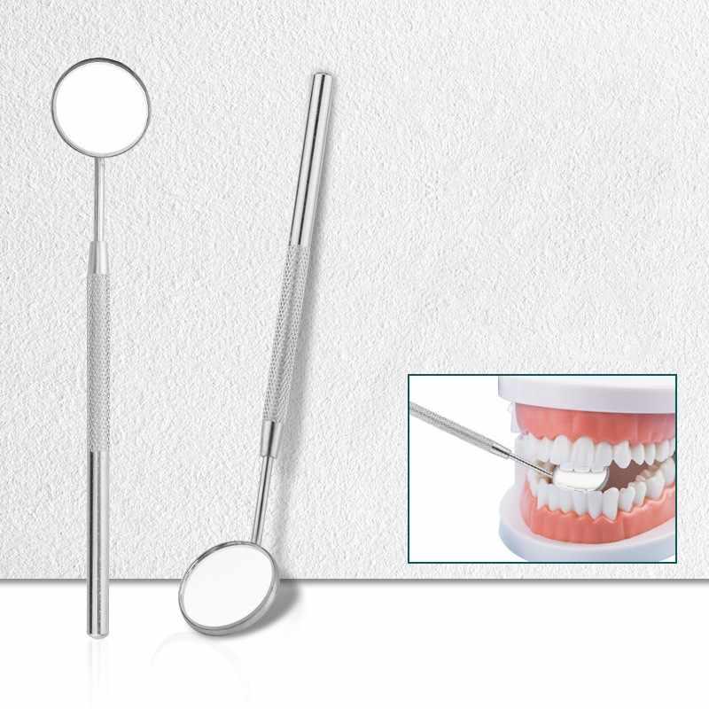 Nha Khoa Gương Kiểm Tra Gương Gương Trang Điểm Răng Vệ Sinh Inox Nha Sĩ Dụng Cụ Chuyên Nghiệp Cho Sức Khỏe Răng Miệng