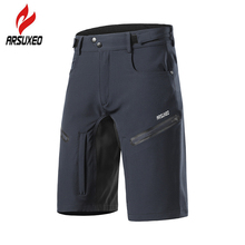 ARSUXEO 6 Colors Men's MTB Shorts Cycling Bicycle Shorts Loose Fit Outdoor Sports Hiking Mountain Bike Downhill Biker Shorts