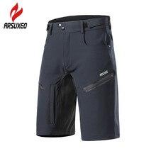 ARSUXEO-pantalones cortos de ciclismo para hombre, 6 colores, corte holgado, para deportes al aire libre, senderismo, montaña, descenso