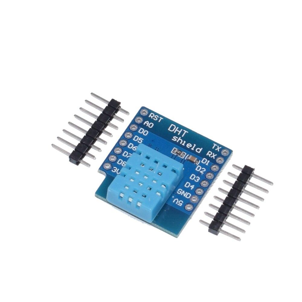 Щит DHT для Wemos D1 Mini DHT11 DHT22, одношинный цифровой модуль датчика температуры и влажности с соответствующими контактами, 1 шт.