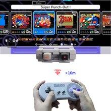 Drahtlose Gamepads 2,4 GHZ Joypad Joystick Controle Controller für Schalter SNES Super Nintendo Klassische MINI Konsole Remote