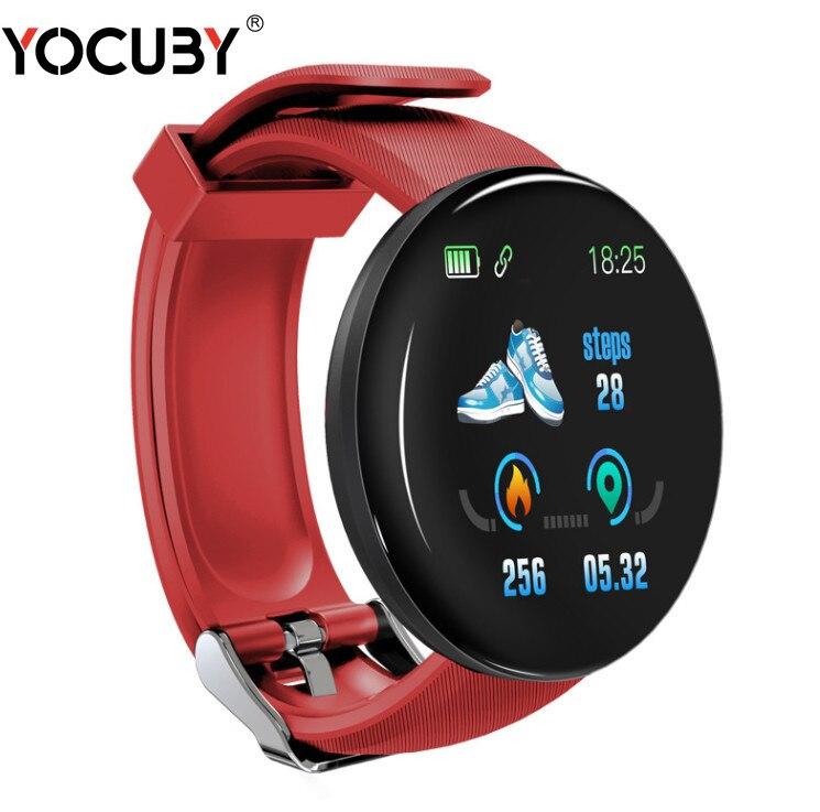 New D18 Bluetooth Smart Watch Bracelet Heart Rate Blood Pressure Activity Trackers Waterproof Sports Smartwatch Dropshiping