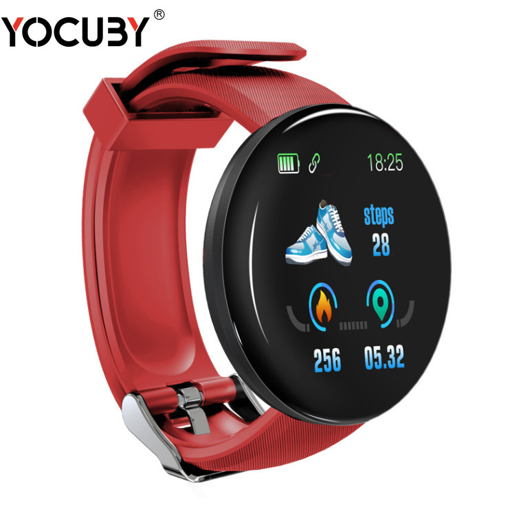 New D18 Bluetooth <font><b>Smart</b></font> <font><b>Watch</b></font> Bracelet Heart Rate Blood Pressure Activity Trackers Waterproof Sports Smartwatch Dropshiping image