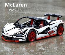 LegoEDS Technic MOC McLaren P1 Super Hypercar Veneno Roadster Model Kit Building Blocks Compatible 42056 APP RC Car Bricks Toys
