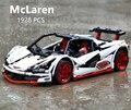LegoEDS Technic McLaren P1 Hypercar 1:10 RC автомобиль горячие колеса Модель Строительный комплект блоки кирпичи совместимые 20087 игрушки для детей