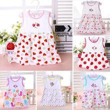 все цены на 5Pcs Random Pattern Kids Baby Girls Cotton Embroidered Princess Dress онлайн