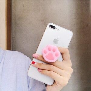 Image 4 - 新ユニバーサル携帯電話ストレッチブラケット漫画ステッチエアバッグ電話拡大電話スタンド指用 iphone 6 7 ×