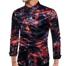 fashion flame digital printing camisas hombre manga larga eu size streetwear long sleeve casual dress shirts