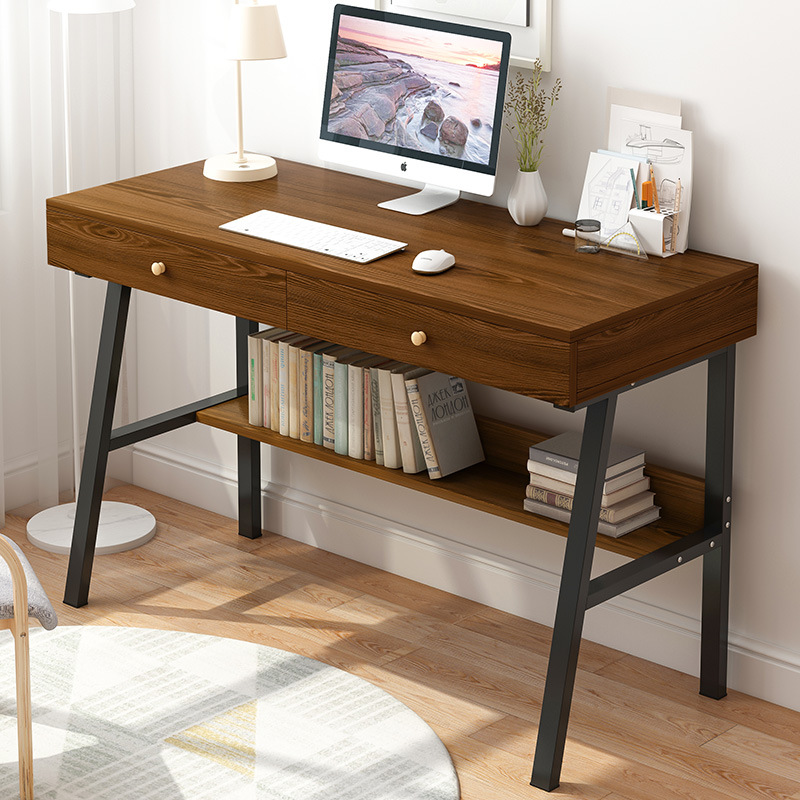 Computer Desktop Table Simplicity Home Office Desk Minimalist Modern Single Person Desk Small Bedroom Students Doing Homework Ta
