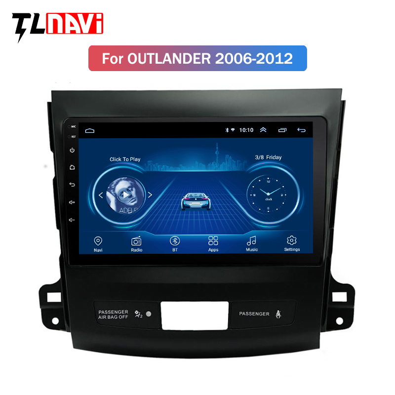 Android 8.1 full <font><b>touch</b></font> <font><b>screen</b></font> 9 Inch car gps radio navigation For <font><b>Mitsubishi</b></font> <font><b>Outlander</b></font> 2006 2007 <font><b>2008</b></font> 2009 2010 2011 2012 image