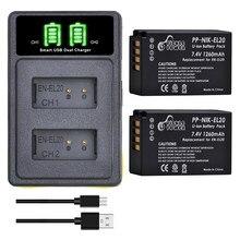 2 Pièces EN-EL20 EN EL20 EN EL20a Batterie + Type-c Chargeur Kits pour Nikon Coolpix P1000 Nikon1 J1 J2 J3 Nikon 1 S1 1 V3 Nikon1 AW1