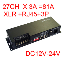 27 Channel DMX512 Decoder 27CH DMX Controller with Iron Housing 3A Per Channel