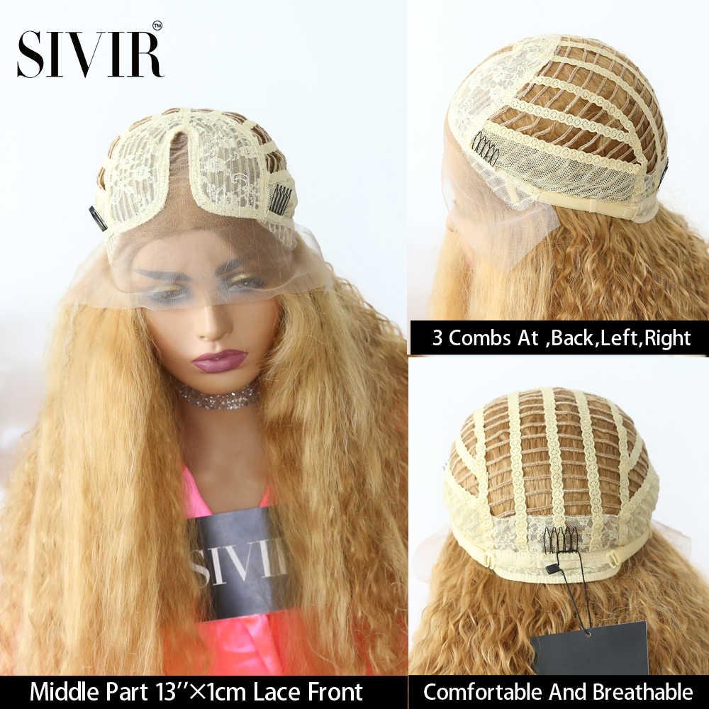 Sivir синтетические парики для женщин 26 'темно-корень блонд коричневый длинный волнистый Омбре синтетический парик Жаростойкие волнистые волосы
