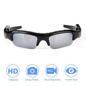 цена на DVR Video Sunglasses Tf Mini Camera Audio Video Recorder for Xiaomi Mijia Action Camera for Go Pro DV Hd Glasses Cycling Skiing