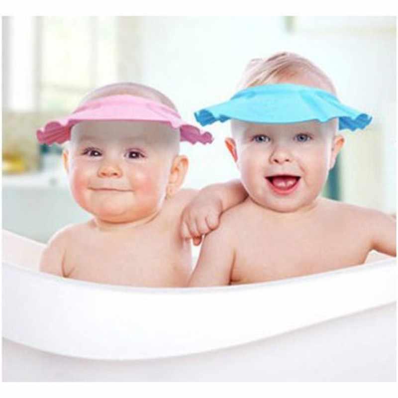 เด็กอ่อนเด็กสินค้าแชมพูหมวกอาบน้ำสระผมเด็กฝักบัวหมวกเด็กหมวกอาบน้ำ Bath Visor ปรับ topi