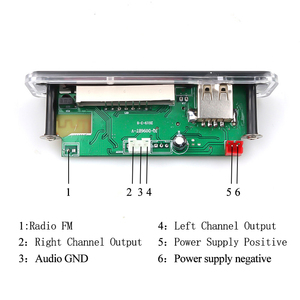 Image 3 - אלחוטי Bluetooth 5V 12V MP3 מפענח לוח MP3 אודיו נגן מודול תמיכה USB SD AUX FM אודיו רדיו מודול עבור אביזרי רכב