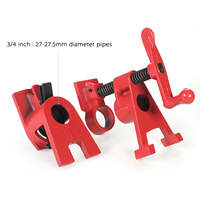 New 3/4 1/2 inch Heavy Duty Pipe Clamp Woodworking Wood Gluing Pipe Clamp Pipe Clamp Fixture Carpenter Woodworking Tools