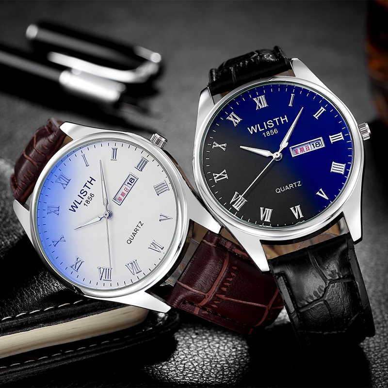 Couple Watch Luxury Faux Leather Men&women Quartz Analog Business Wrist Watches Couple Clock Relogios Masculino Erkek Kol Saati