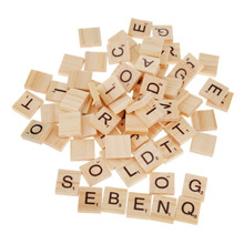100 Pieces Crossword Game Wooden Learning Letters Words Educational Gift Child DIY Words Spelling Tiles