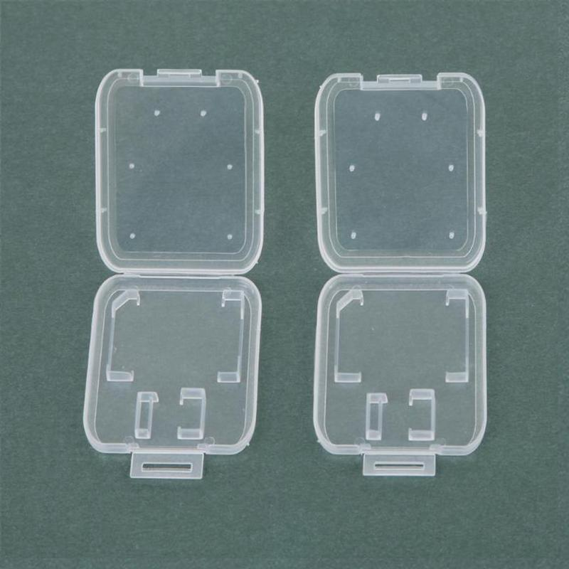 10pcs/Lot SD Card TF Memory Card Storage Box Camera Small White Box High-grade Plastic Transparent Card Cases