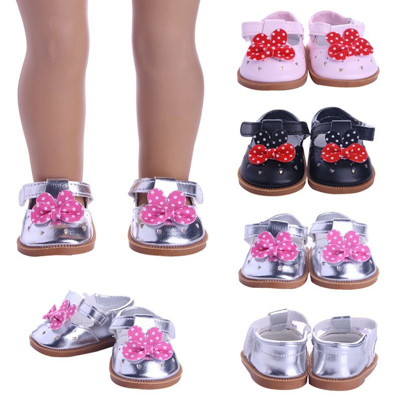 Doll 3 Styles Bow Leather Shoes For 18 Inch American Doll & 43 Cm Born Baby Our Generation Christmas Birthday Girl's Gifts