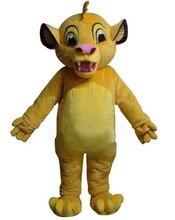 Yeni aslan kral Simba maskot kostüm fantezi kostüm Anime Cosplay kitleri cadılar bayramı partisi olay