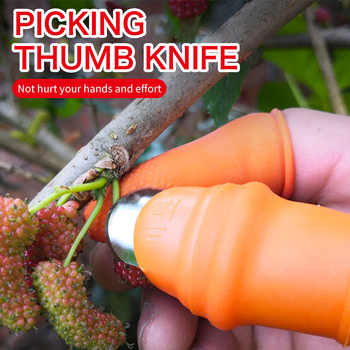Silicone Thumb Knife Finger Protector Vegetable Harvesting Knife Plant Blade Scissors Cutting  Rings Garden Gloves 1  Home Hb13f0fe1b5aa4a259f4c6eeb492d5574B