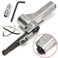 Steel Silver Air Belt Sander For Air Compressor Sanding With Sanding Belt Pneumatic Tools For Woodworking Furniture Polishing