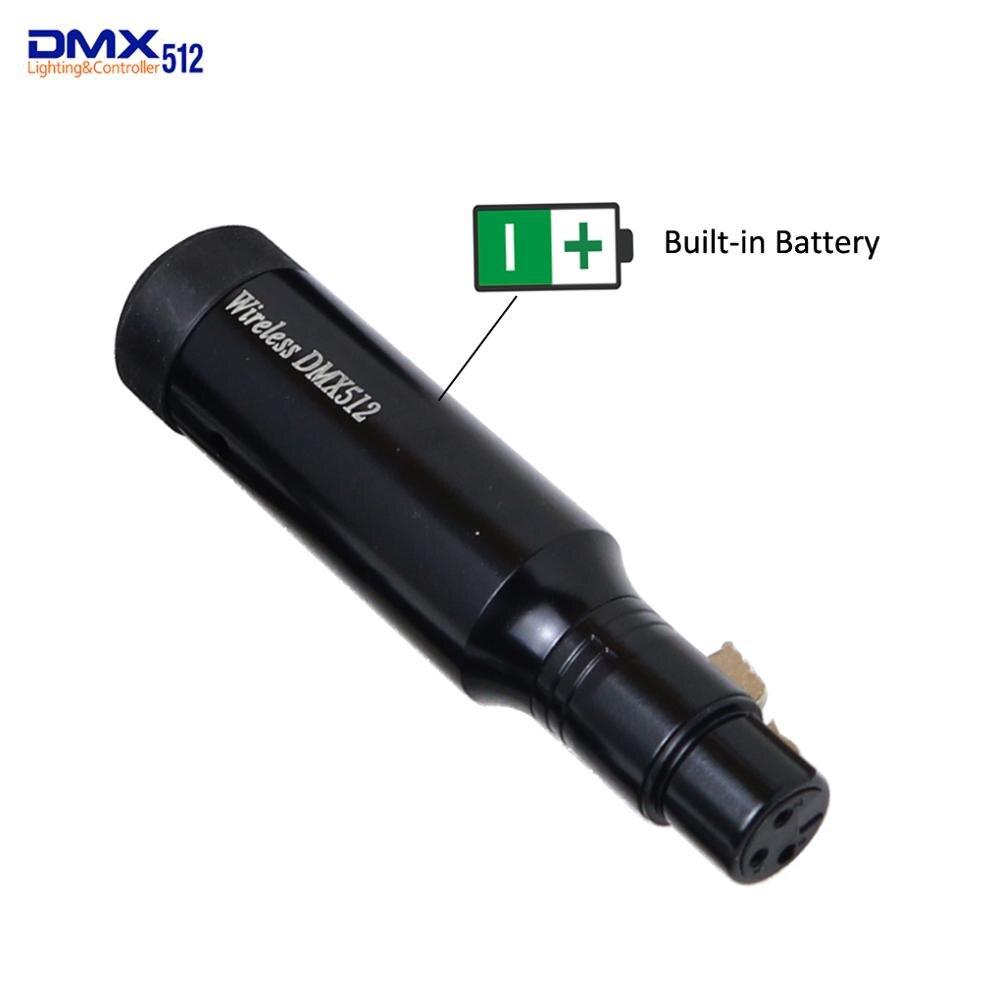 Nouveau récepteur de batterie intégré Rechargeable 2.4GHz sans fil DMX512 XLR récepteur pour éclairage PAR scène